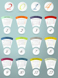 Colorful calendar design for 2014. Cool colorful calendar design for the year 2014 Stock Photo