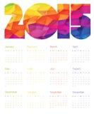Colorful Calendar 2015 Design. Vector. Royalty Free Stock Photo