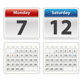 Colorful calendar isolated on a wihite background Stock Photo