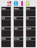 Colorful calendar for 2015. Starts sunday. vector illustration vector illustration
