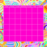 Colorful Calendar Template Royalty Free Stock Images