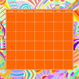 Colorful Calendar Template Stock Images