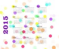 Colorful Calendar 2015. Calendar 2015 on thw white background stock illustration