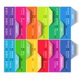 Colorful calendar 2016. Week starts Monday Stock Photos