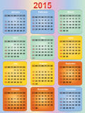 Colorful calendar Royalty Free Stock Image