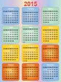 Colorful calendar stock illustration
