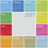 Colorful Calendar for Year 2017. In vector format Stock Illustration