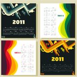 Colorful calendars for 2011 Stock Images