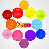 Colorful calender Stock Image