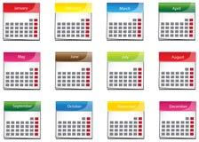 Colorful calender icon collection set (vector). Colorful calender icon collection set , create by vector Stock Photos