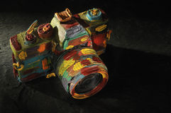 Colorful camera Royalty Free Stock Photography