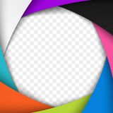 Colorful Camera Shutter Aperture. Vector background. Stock Images