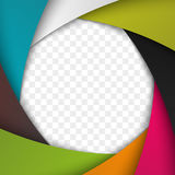 Colorful Camera Shutter Aperture. Vector background. Stock Image