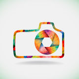 Colorful camera symbol Royalty Free Stock Images