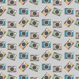 Colorful Cameras Pattern Background Stock Images