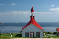 Colorful canadian church Stock Image