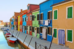 Colorful canal Stock Photo