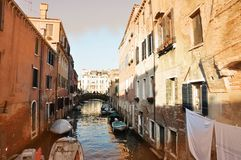 Colorful canals of Venice Stock Photography