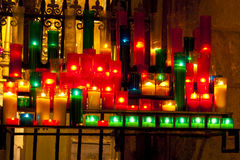 Colorful Candels in a Church Stock Photo