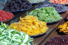 Colorful candied and crystallized fruits assortment. Stock Photography