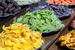 Colorful candied and crystallized fruits assortment. Stock Image