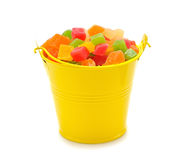 Colorful candied fruit Stock Images