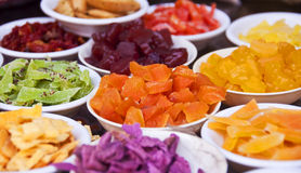 Colorful candied fruits Stock Photography