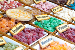 Colorful candied fruits assortment. Stock Photography
