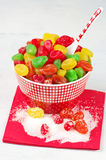 Colorful candied fruits Royalty Free Stock Photos