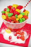 Colorful candied fruits Stock Photos