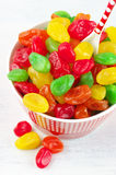 Colorful candied fruits Royalty Free Stock Photography