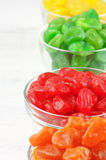 Colorful candied fruits royalty free stock image