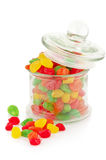 Colorful candied fruits Stock Photo