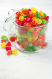 Colorful candied fruits stock images