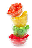 Colorful candied fruits Stock Image