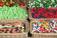 Colorful candies. Different kinds of colorful candies Stock Images
