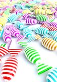 Colorful candies. 3d computer generated image of a lot of colorful candies on white background Stock Photos