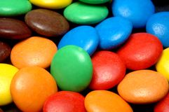 Colorful candies. Lots of colorful candies closeup from above Royalty Free Stock Photography