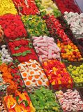 Colorful candies. In the market in Barcelona Royalty Free Stock Images
