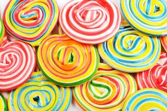 Colorful candies. A lot of colorful lollipops for background Stock Photo