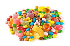 Colorful candies. On white background Royalty Free Stock Photo
