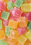 Colorful candies. Close up colorful jelly candies food background Stock Photo