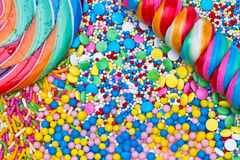 Colorful candies background Stock Photography