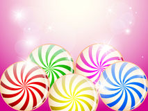 Colorful candies card Royalty Free Stock Photos