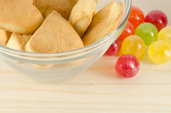 Colorful candies and cookies Royalty Free Stock Photography