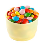 Colorful candies in cup Royalty Free Stock Images