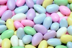 Colorful candies in egg shapes Royalty Free Stock Photos