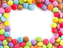 Colorful candies frame Royalty Free Stock Images
