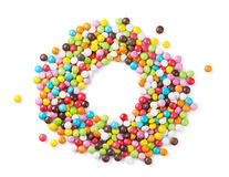 Colorful candies frame Royalty Free Stock Photography