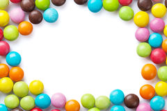Colorful candies frame Stock Photo